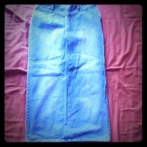 Liz Claiborne Long Denim Skirt